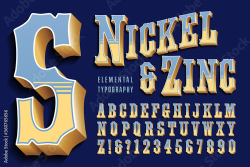 Photo A 3d Vintage Font in the Style of Circus or Carnival Lettering; This Retro Typographic Style Would Also Work Well in Any Old West or Cowboy Context