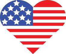 Heart Shaped Star Spangled Ban...