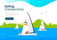 Sea Sailing Championship. Yach...