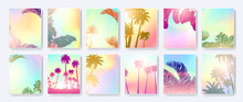Colorful Summer Banners, Tropi...