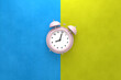 canvas print picture Abstract background of alarm clock with minimal concepts. 3D rendering.
