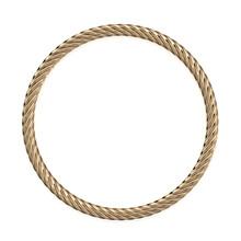 Golden Rope Circle 3d Rendering