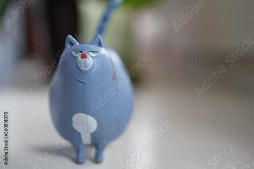 POZNAN, POLAND - Jun 07, 2020: Chloe fat cat figurine
