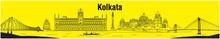 City Of Joy Kolkata, Calcutta, Bengal, Vector Illustration