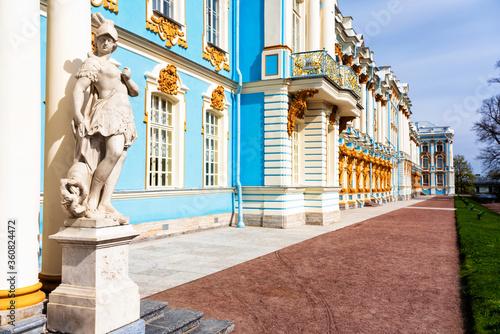 Slika na platnu PUSHKIN, RUSSIA - APRIL 28, 2019: Catherine palace in Tsarskoe Selo, Pushkin, St