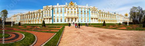 Fotografija PUSHKIN, RUSSIA - APRIL 28, 2019: Catherine palace in Tsarskoe Selo, Pushkin, St