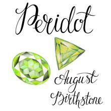 August Birthstone Peridot Isol...