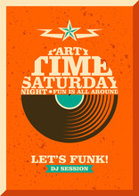 Party Poster Design With Typography. Vector Illustration.