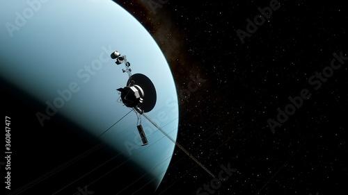 Fotografia, Obraz Voyager satellite in deep space, artificial satellite in space, Voyager abroad t