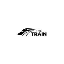 Illustration Modern Train Rail Way Transportation Logo Design