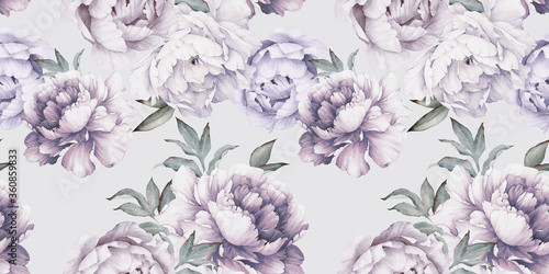 seamless-floral-pattern-with-peony-flowers-on-summer-background-watercolor-botanical-art