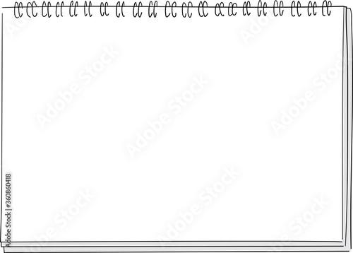 スケッチブックの背景フレームイラスト。 Fototapet