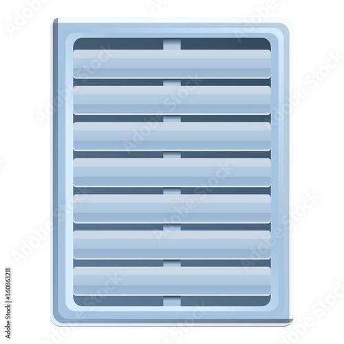 Air circulation ventilation icon Canvas Print