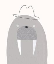 Portrait Of Mr. Walrus In A Bo...