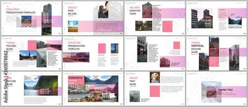 Fotomural Minimal presentations design, portfolio vector templates with colorful gradient design geometric trending elements