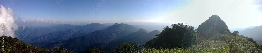 Fototapeta panorama of the mountains mokoju