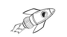 Rocket Hand Drawn Vector Illustration