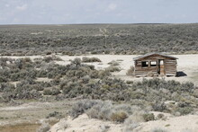 An Old Pioneer Cabin In The Gr...