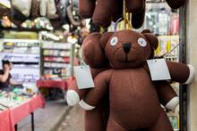 Fake Mr. Bean Teddy Bear In The Market, Kuala Lumpur.