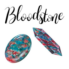 Bloodstone Polished Crystal An...