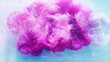 Color smoke cloud. Fantasy splash. Magenta pink ink hypnotic motion in water on blue art background.