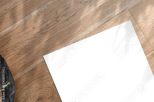 Fotografie, Tablou Multipurpose A4 format minimalist flat lay Mockup