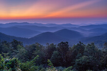 Sunrise Over Blue Ridge Parkway At The Mills River Overlook