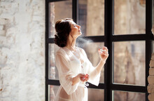 Woman Perfume In The Morning