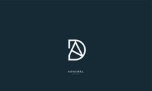 Alphabet Letter Icon Logo DA Or AD