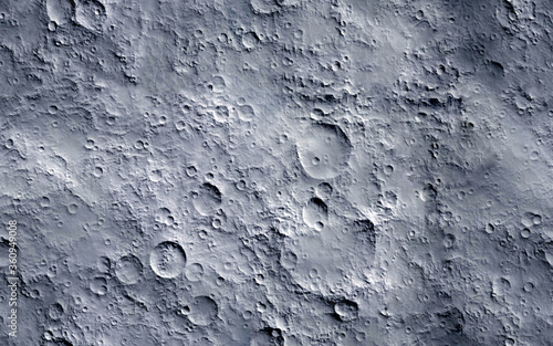 Moon surface. Seamless texture background. Fototapet