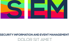 Creative Colorful Logo , Siem Mean (security Information And Event Management) .