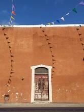 Jeux D'ombres De Fanions Mexicains Dans Le Vent