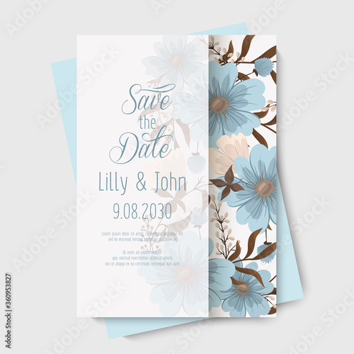 Floral backgrounds wedding cards Canvas Print