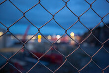 The Metal Mesh Fence And The L...