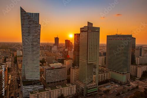 Fototapety, obrazy: Night view of Warsaw