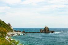 Coastal View Of A Rocky Beach ...