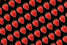 Diagonal Rows Of Strawberries ...