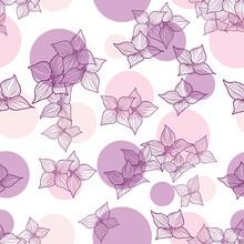 Dogwood Flower With Purple Whi...