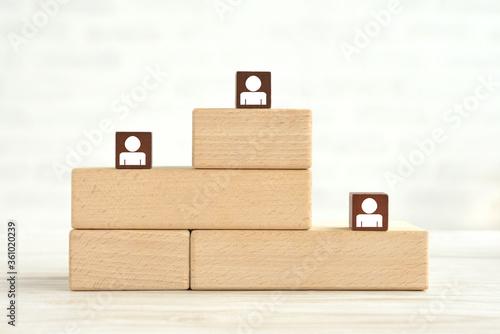 Photo 積み木の表彰台