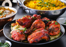 Indian Tandoori Chicken With O...