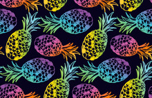 Color Abstract Hand Drawn Doodle Tropical Pattern Background. Trendy Template Design Texture.