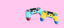 Two Video Game Controllers. Gamepads