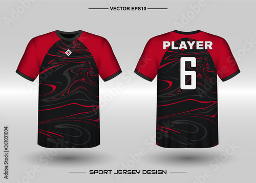 Fotografie, Obraz T-shirt sport vector design template, Soccer jersey mockup for football club