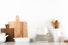Modern Kitchen Utensils Background