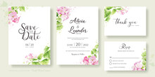 Set Of Floral Wedding Invitati...