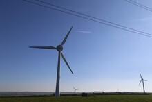 Wind Turbines Sited On A Hillt...