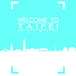 Welcome to Taipei Skyline City Flyer Design Vector art.