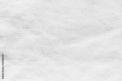 Fotografiet White canvas texture background of cotton burlap natural fabric cloth for wallpa