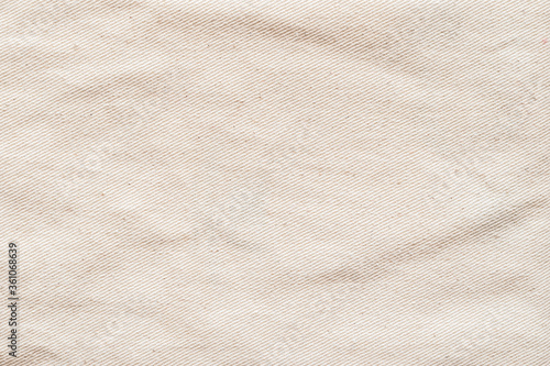 Fotografering Canvas texture background of cotton burlap natural fabric cloth in old aged beig