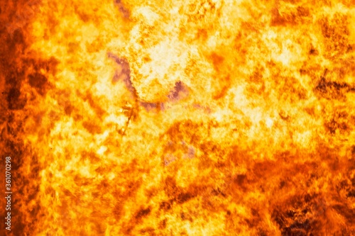 Raging flames of huge fire Canvas Print